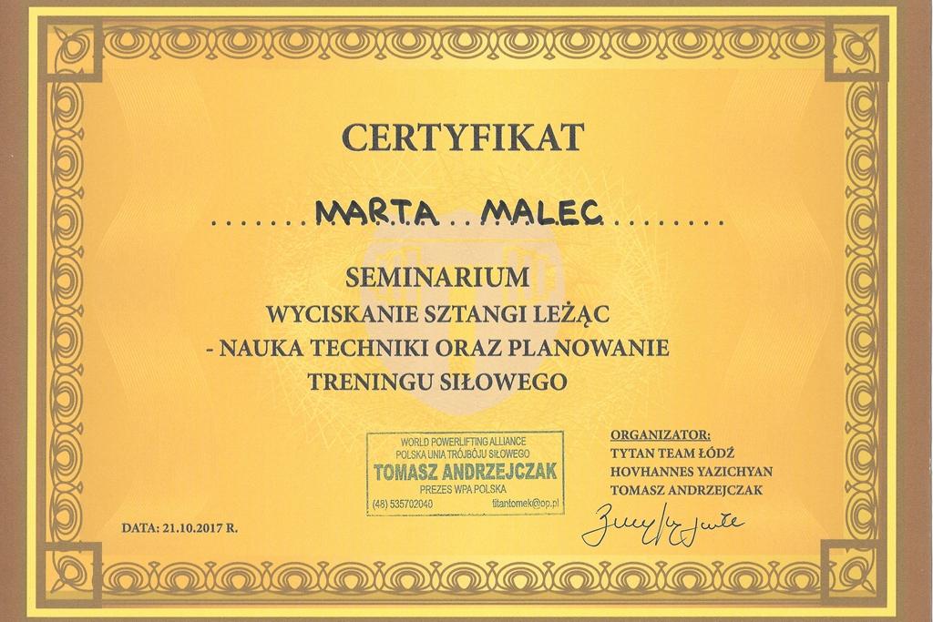marta-malec-dietetyk-warszawa-trening-personalny-Seminarium-naukawyciskaniasztangilezac
